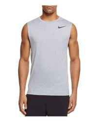 Nike - Gray Hyperdry Muscle Tank for Men - Lyst