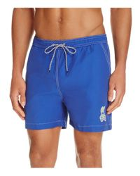 Psycho Bunny - Blue Solid Swim Trunks for Men - Lyst