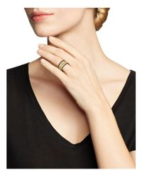 Armenta - Metallic 18k Yellow Gold & Blackened Sterling Silver Maltese Cross White & Black Diamond Ring - Lyst