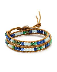 Chan Luu | Multicolor African Turquoise Mix Wrap Bracelet | Lyst