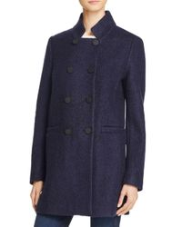 T Tahari - Blue Harper Double-breasted Front Coat - Lyst