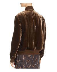 Vince | Brown Velvet Bomber Jacket | Lyst