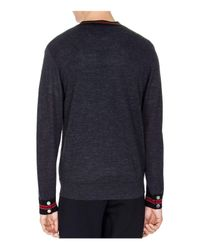 The Kooples - Gray Tricolor Knit Cardigan for Men - Lyst