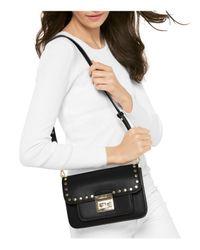 MICHAEL Michael Kors | Multicolor Sloan Editor Studded Large Leather Shoulder Bag | Lyst
