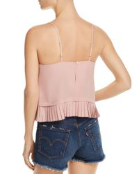French Connection - Pink Pleated Peplum Cami - Lyst