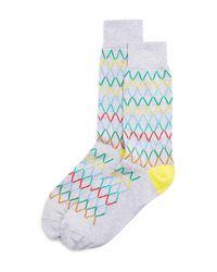 Paul Smith | Gray Acid Block Diamond Socks for Men | Lyst