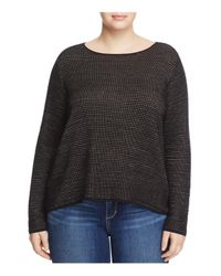 Eileen Fisher | Black Boat Neck Sweater | Lyst