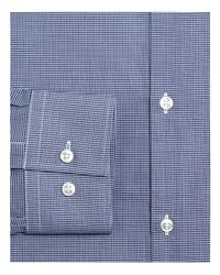 HUGO - Blue Micro Gingham Check Slim Fit Dress Shirt for Men - Lyst