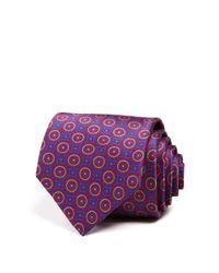 Robert Talbott - Purple Circle Square Medallion Classic Tie for Men - Lyst