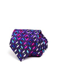 Robert Talbott - Black Bright Prism Hexagon Neat Classic Tie for Men - Lyst