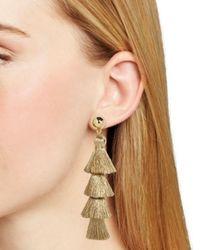 BaubleBar - Metallic Luisa Tassel Drop Earrings - Lyst