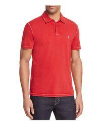 John Varvatos | Red Peace Regular Fit Polo Shirt for Men | Lyst