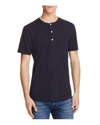 7 For All Mankind | Blue Thermal Short Sleeve Henley Tee for Men | Lyst