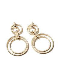 Aqua - Metallic Jenny Drop Earrings - Lyst