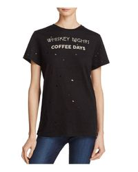 Signorelli | Black Whiskey Nights Coffee Days Tee | Lyst
