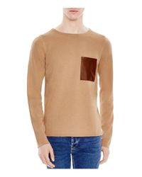 Sandro | Natural Pocket Sweater for Men | Lyst