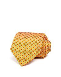 Turnbull & Asser   Orange Twisting X's Classic Tie for Men   Lyst