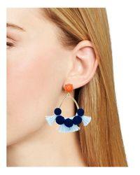 BaubleBar - Blue Melina Hoop Earrings - Lyst