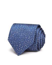Lanvin   Blue Speckled Classic Tie for Men   Lyst