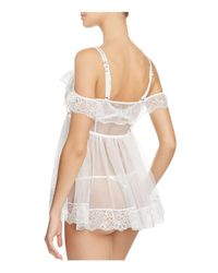 L'Agent by Agent Provocateur - Natural Madalene Babydoll - Lyst