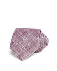John Varvatos | Purple Melange Broken Window Check Classic Tie for Men | Lyst