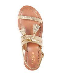 Kate Spade - Carlita Metallic Leather Slingback Sandals - Lyst