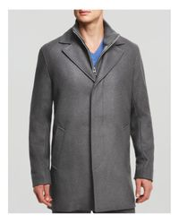 Cole Haan | Gray Melton Classic Topper Coat for Men | Lyst
