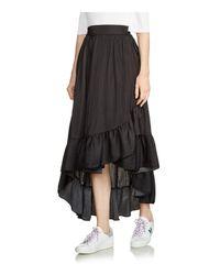 Maje - Black Jonah High/low Ruffled Skirt - Lyst