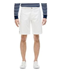 Lacoste | White Gabardine Regular Fit Bermuda Shorts for Men | Lyst