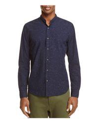 Scotch & Soda | Blue Band Collar Slim Fit Button-down Shirt for Men | Lyst