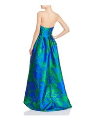 Paule Ka - Blue Strapless High/low Gown - Lyst