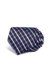 W.r.k. - Black Double Line Check Classic Tie for Men - Lyst