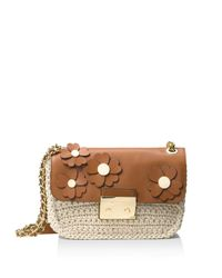 MICHAEL Michael Kors   Multicolor Sloan Chain Floral Large Shoulder Bag   Lyst