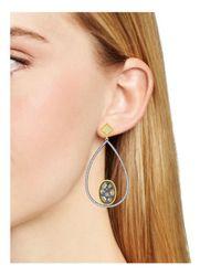 Freida Rothman   Metallic Open Teardrop Earrings   Lyst