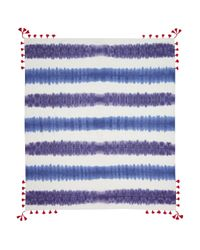 Rebecca Minkoff - Blue Tie Dye Square Scarf - Lyst