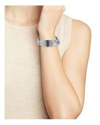 Stephen Dweck - Metallic Layered Chain Black Sapphire Bracelet - Lyst