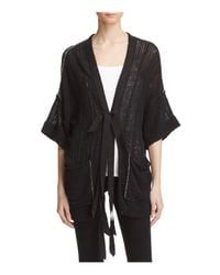 Free People | Black Beach House Brunch Cardigan | Lyst