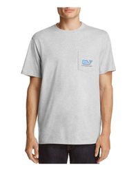 Vineyard Vines - Gray Sunnylife + Woodblock Flamingo Whale Pocket Tee for Men - Lyst