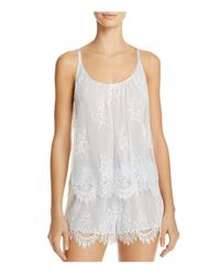 Oscar de la Renta | White Lace Short Pajama Set | Lyst