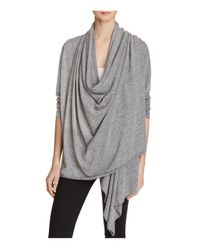 Alternative Apparel | Gray Overlap Wrap Cardigan | Lyst