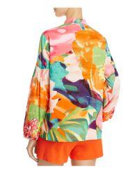 Natori - Multicolor Embroidered Peasant Blouse - Lyst