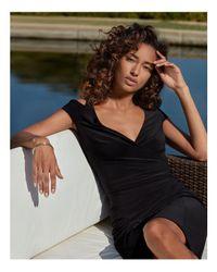 Ralph Lauren - Black Lauren Cold-shoulder Dress - Lyst