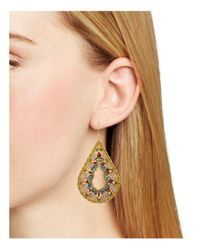 Miguel Ases - Metallic Blush Teardrop Earrings - Lyst