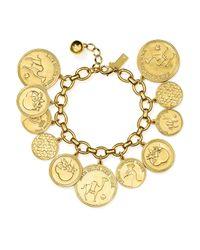 kate spade new york | Metallic Coin Charm Bracelet | Lyst