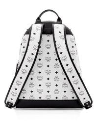 MCM - White Visetos Medium Stark Backpack for Men - Lyst