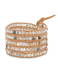 Chan Luu | Multicolor Beaded Leather Wrap Bracelet | Lyst