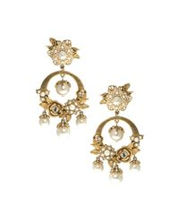 Marchesa | Metallic Orbital Drop Earrings | Lyst