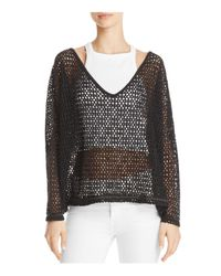 Free People - Black Napa Top - Lyst