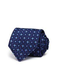 Canali   Blue Large Floret Classic Tie for Men   Lyst