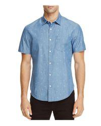 Original Penguin - Blue Chambray Dobby Slim Fit Button-down Shirt for Men - Lyst